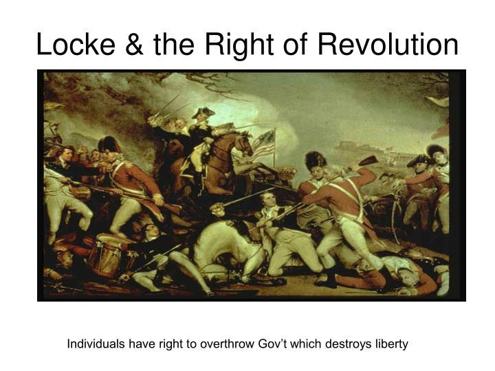 Locke & the Right of Revolution