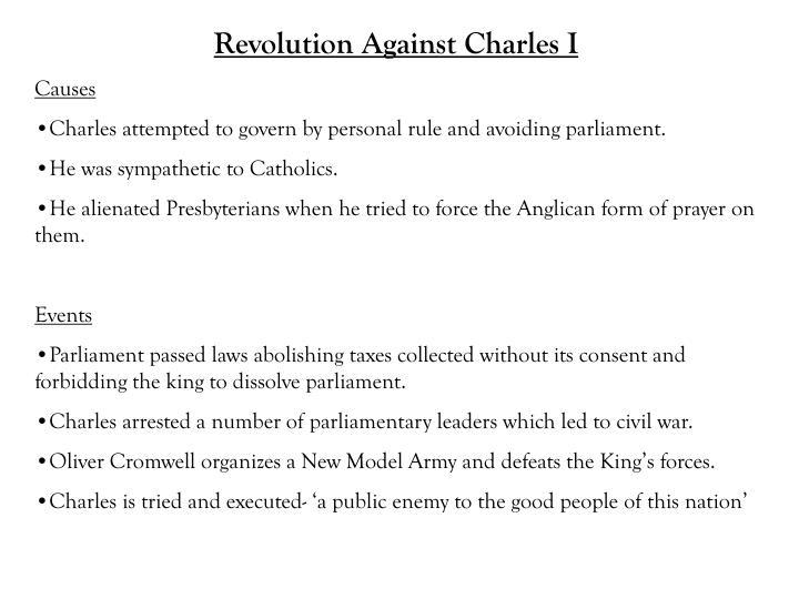 Revolution Against Charles I
