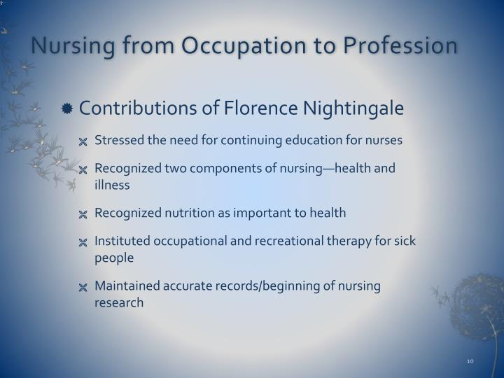 a history of nursing professionalism Evolution of the nursing profession dear editor: it was with  unusual interest that the writer perused both your editorial in the april number  and.