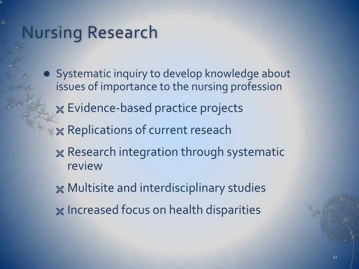 history of nursing research Council history after the ana restructured and disbanded the council of nurse  research, american academy of nursing (aan) board members in the late.