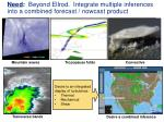 need beyond ellrod integrate multiple inferences into a combined forecast nowcast product