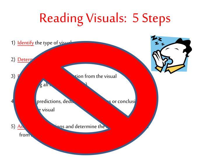 Reading Visuals:  5 Steps