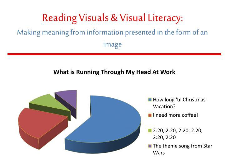 Reading Visuals & Visual Literacy