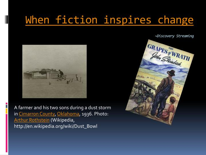 When fiction inspires