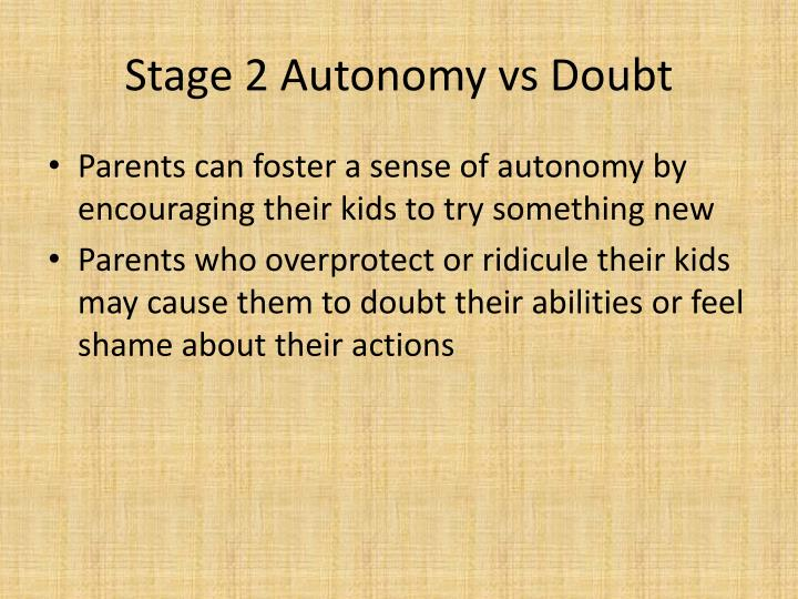 Stage 2 Autonomy vs Doubt