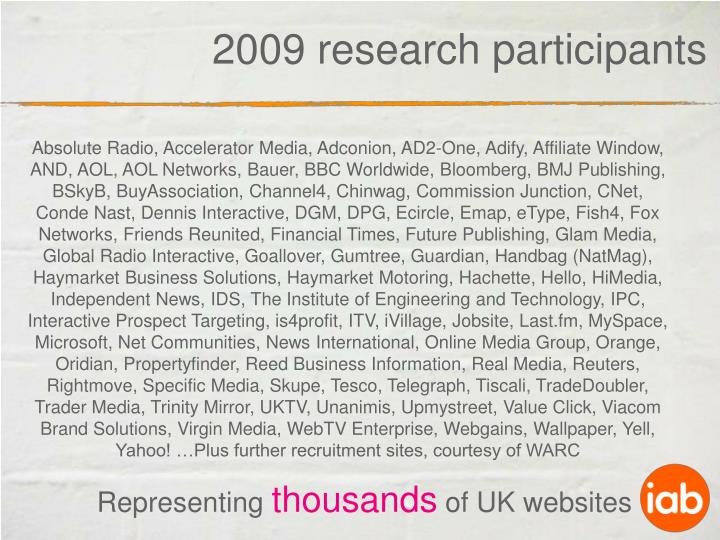 2009 research participants