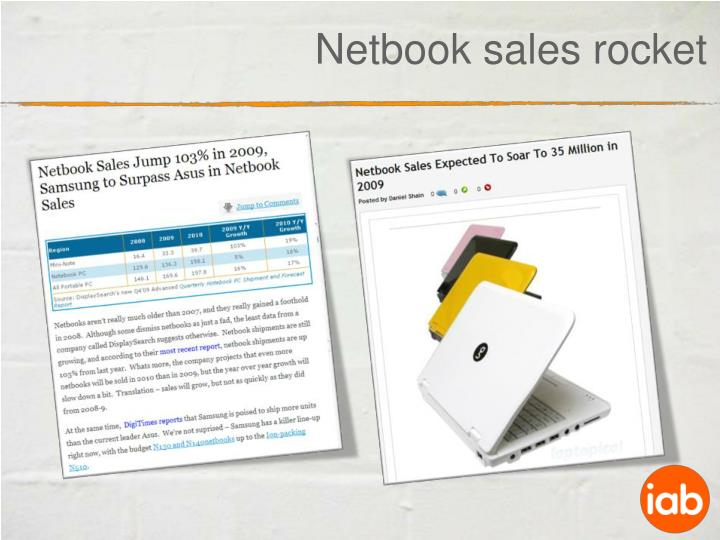 Netbook sales rocket