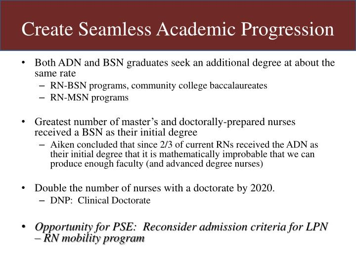 Create Seamless Academic Progression