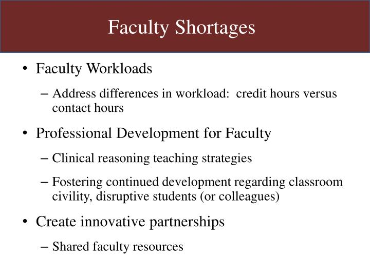 Faculty Shortages
