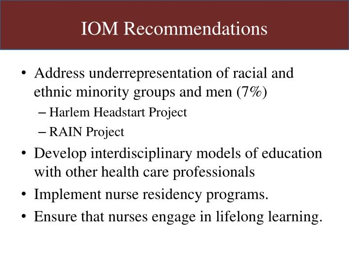 IOM Recommendations