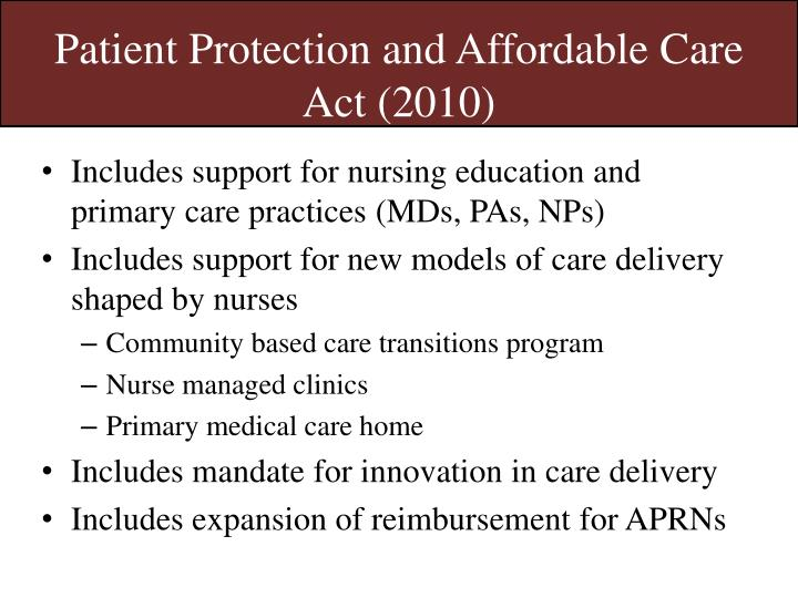 Patient Protection and Affordable Care Act (2010)