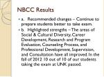 nbcc results