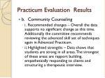 practicum evaluation results1