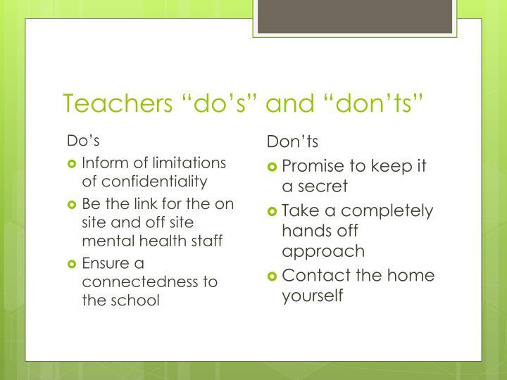 "Teachers """