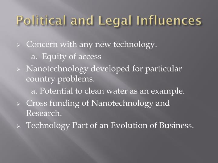 Political and Legal Influences