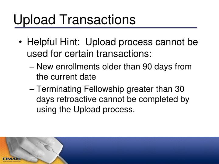 Upload Transactions