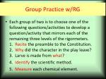 group practice w rg