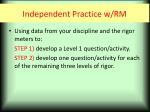independent practice w rm