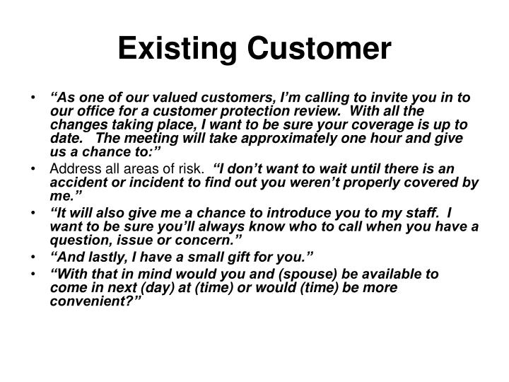Existing Customer