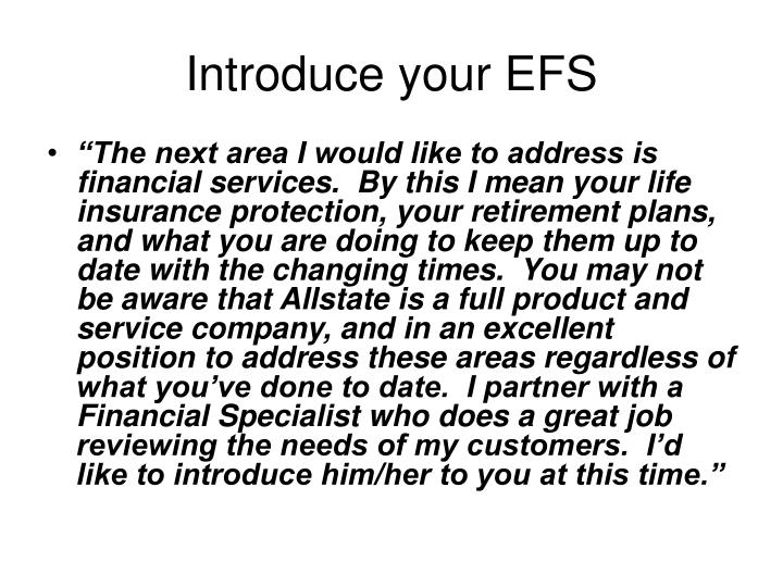 Introduce your EFS