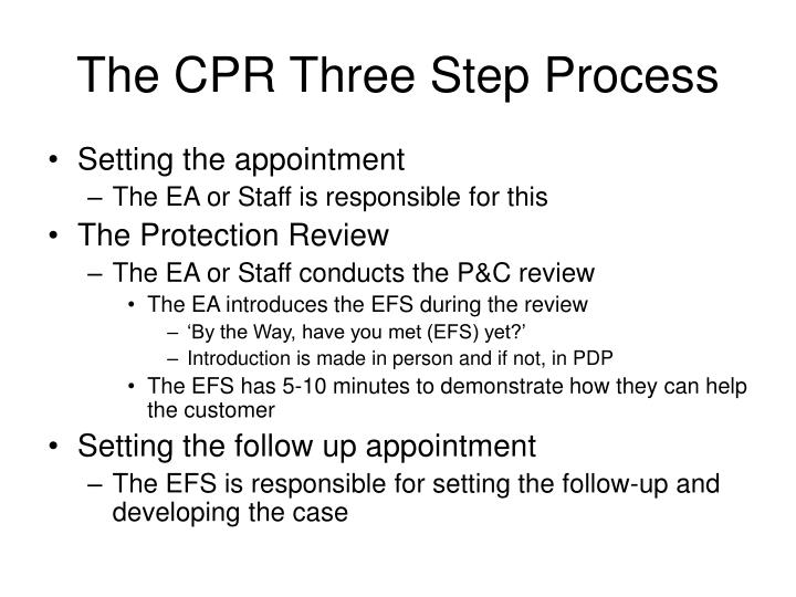 The cpr three step process