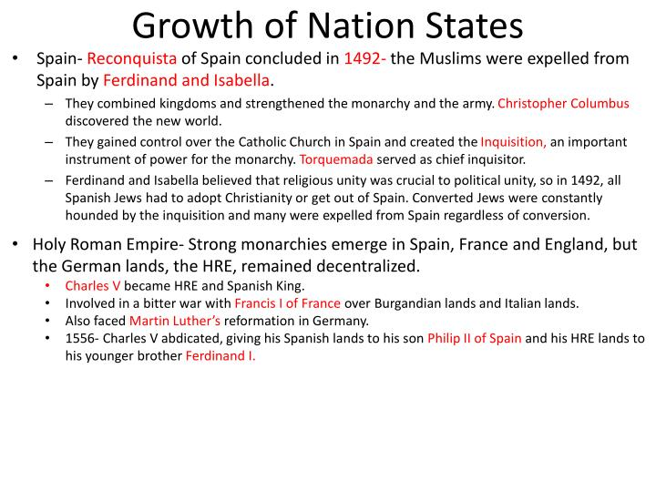 Growth of Nation States