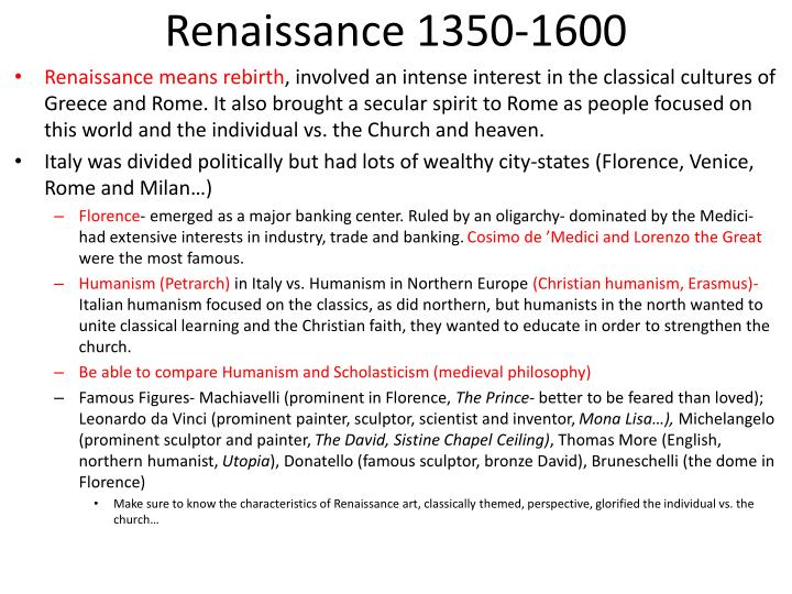 Renaissance 1350-1600