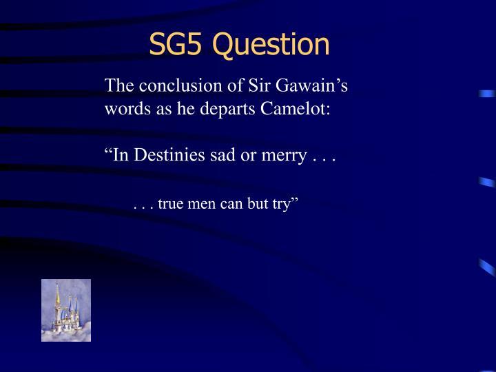 SG5 Question