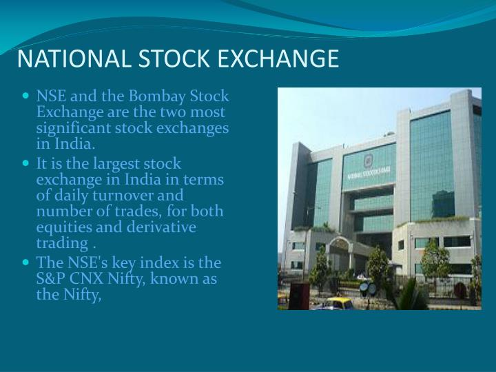 NATIONAL STOCK EXCHANGE