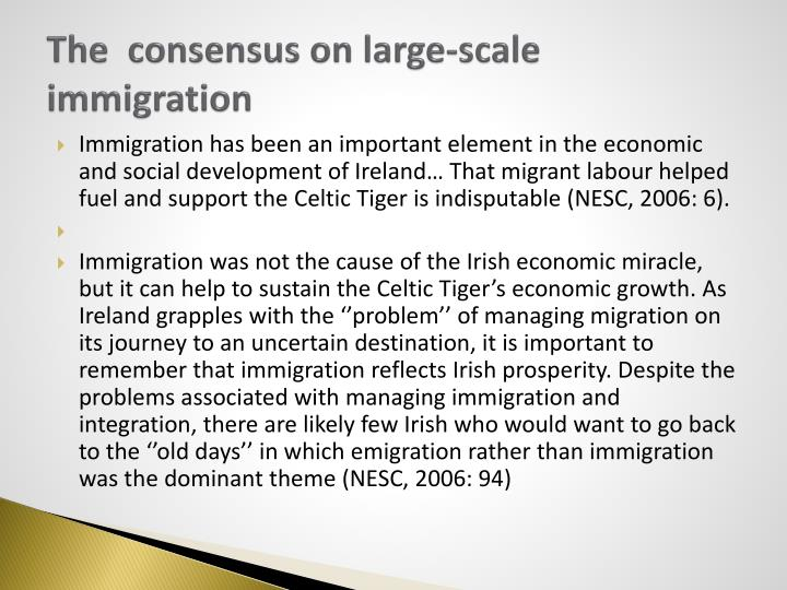 The  consensus on large-scale immigration