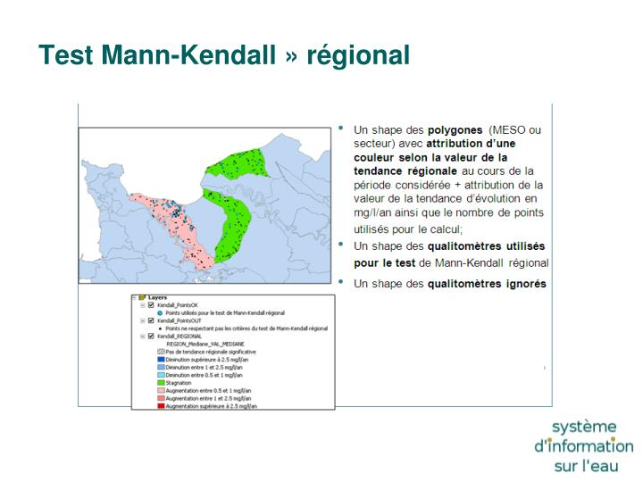 Test Mann-Kendall» régional