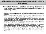 babasaheb bhimrao ambedkar university lucknow