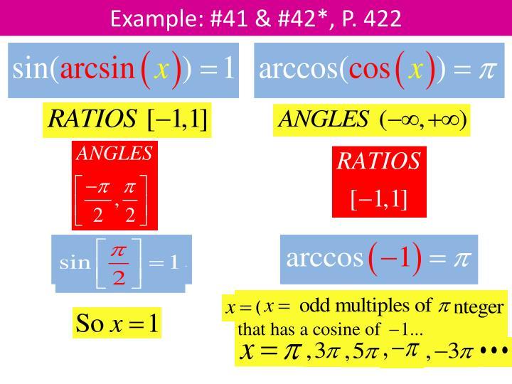 Example: #41 & #42*, P. 422