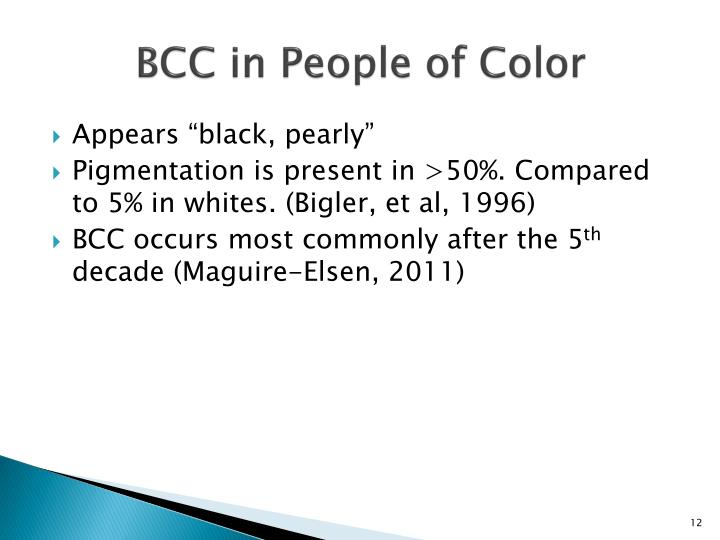 BCC in People of Color