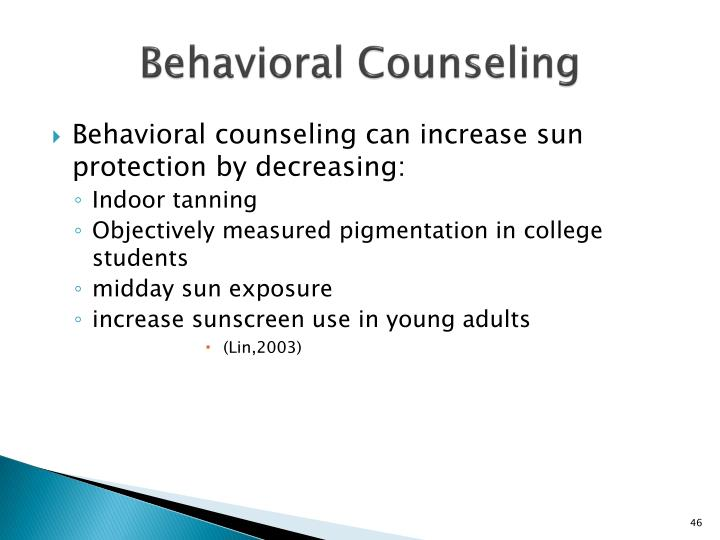 Behavioral Counseling
