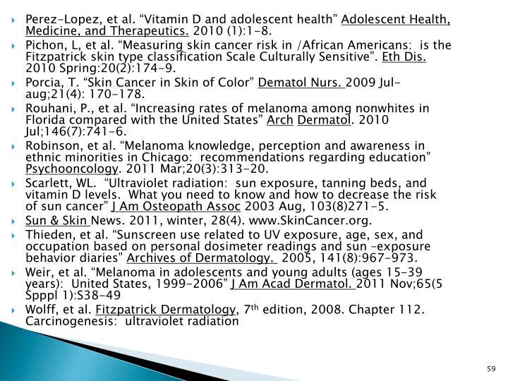 "Perez-Lopez, et al. ""Vitamin D and adolescent health"""