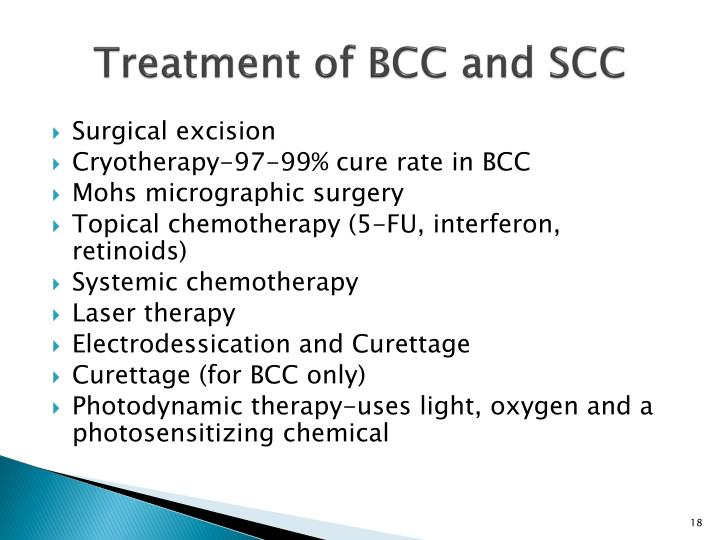 Treatment of BCC and SCC