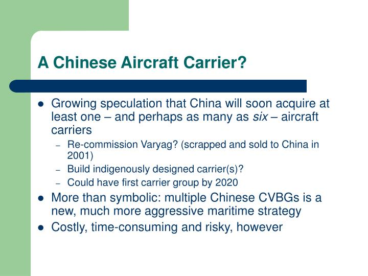 A Chinese Aircraft Carrier?