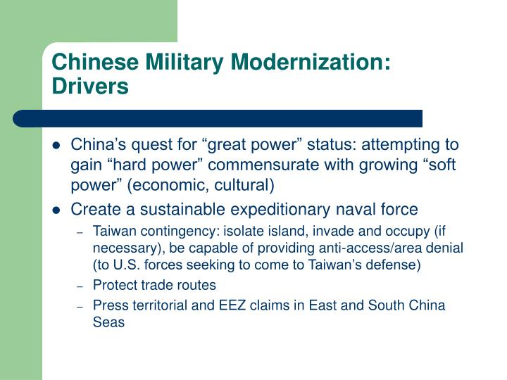 Chinese Military Modernization: Drivers