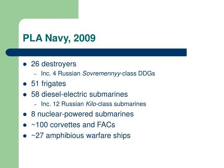 PLA Navy, 2009