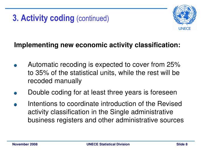 3. Activity coding