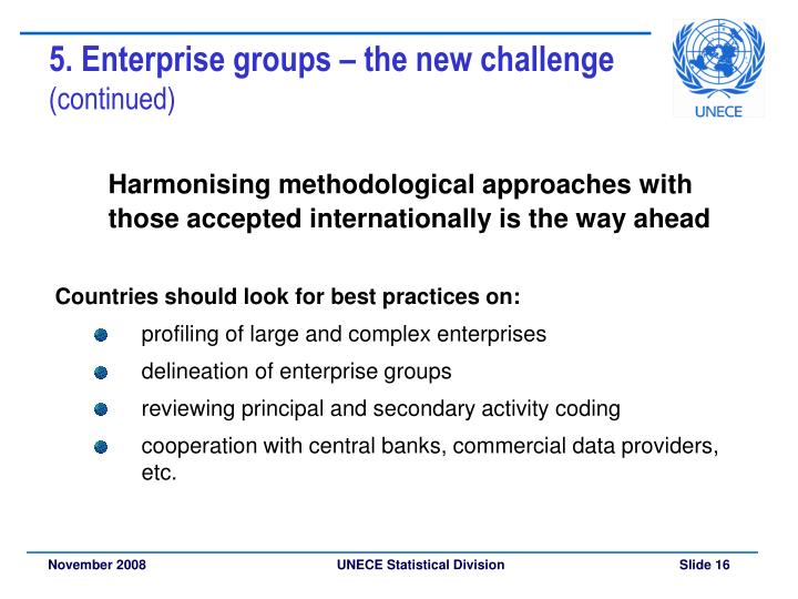 5. Enterprise groups – the new challenge