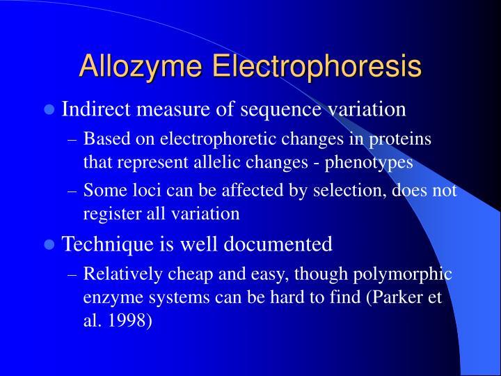 Allozyme Electrophoresis