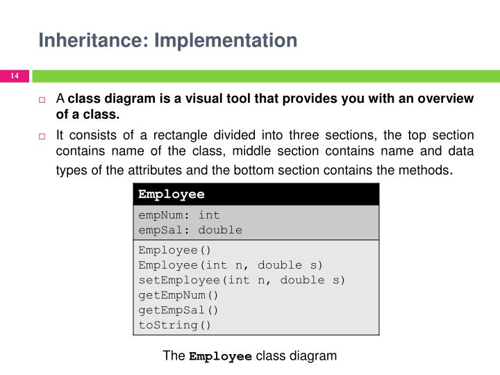 Inheritance: Implementation