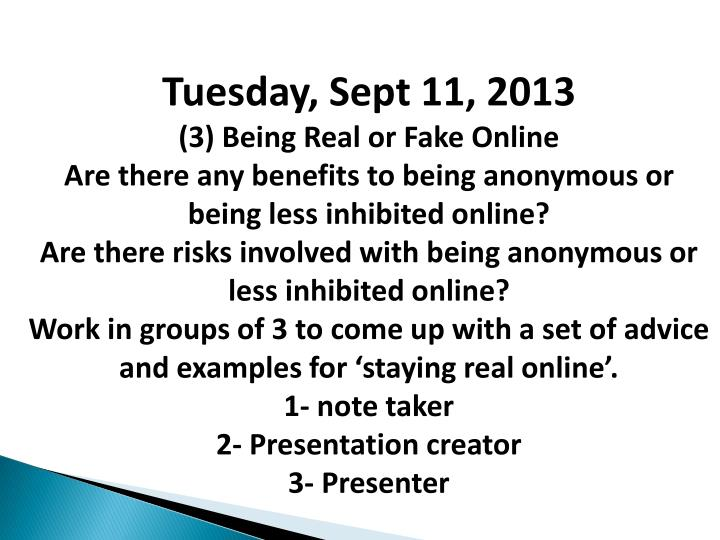 Tuesday, Sept 11, 2013