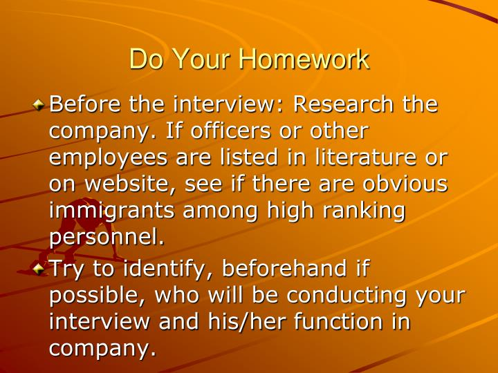 Do Your Homework