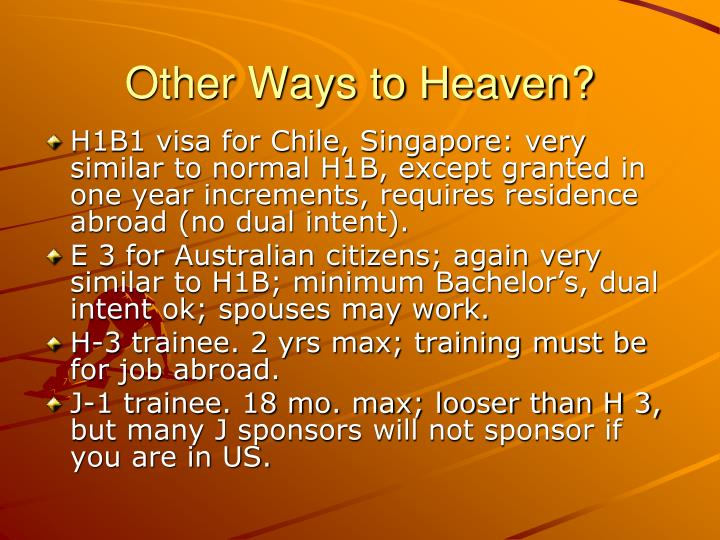 Other Ways to Heaven?