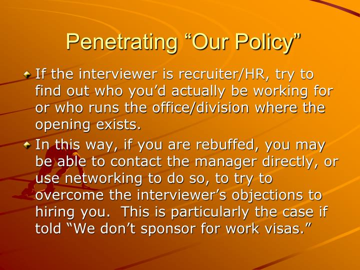 "Penetrating ""Our Policy"""