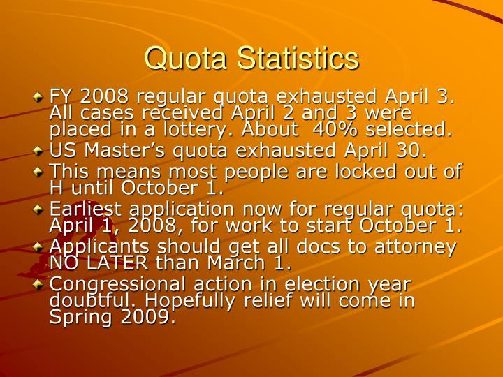 Quota Statistics
