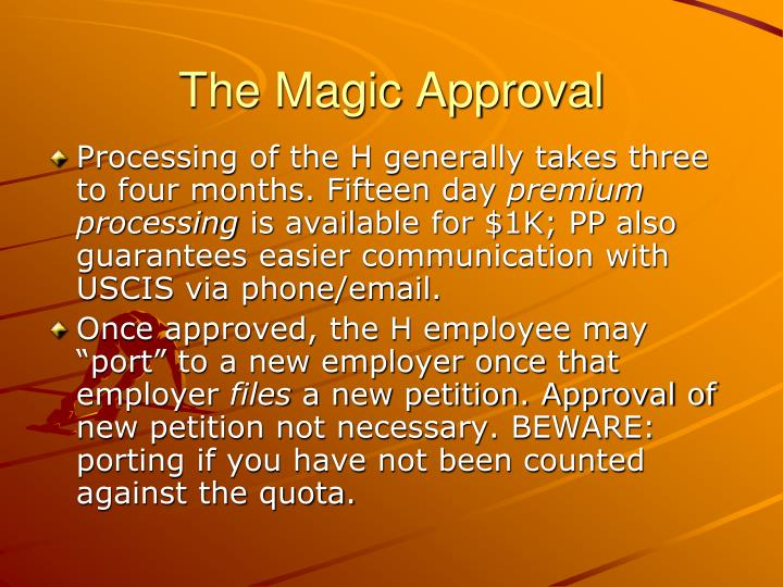 The Magic Approval